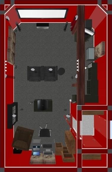 Cinema Zyberdiso Room Layout