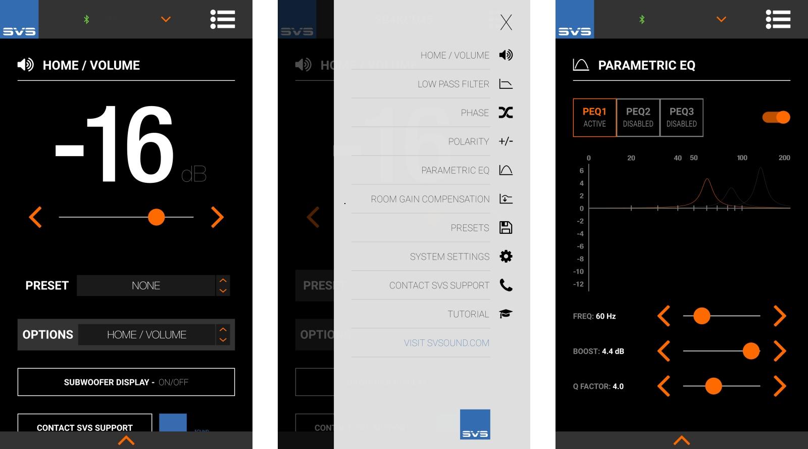 SVS App Screens