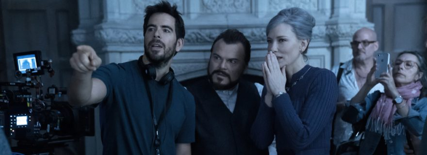 Eli Roth directing The House With a Clock in Its Walls