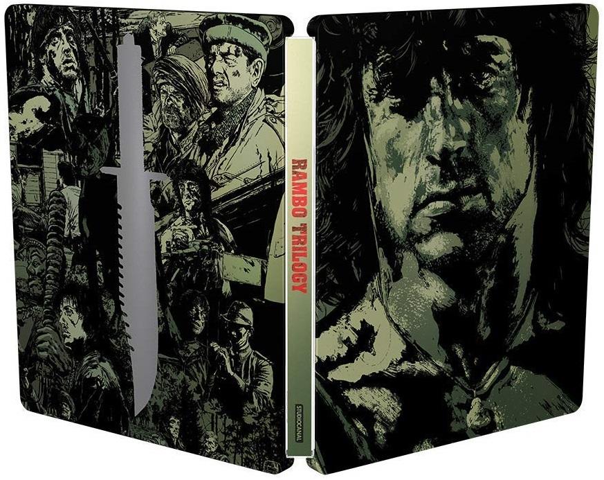 Rambo Trilogy SteelBook open