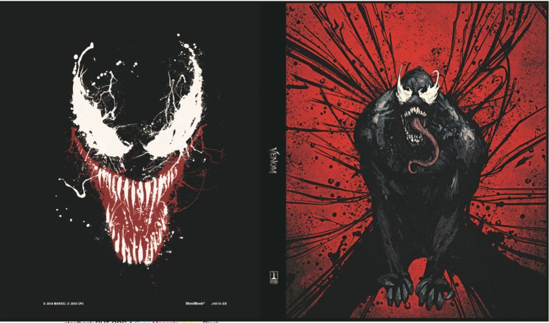 Venom UK SteelBook open