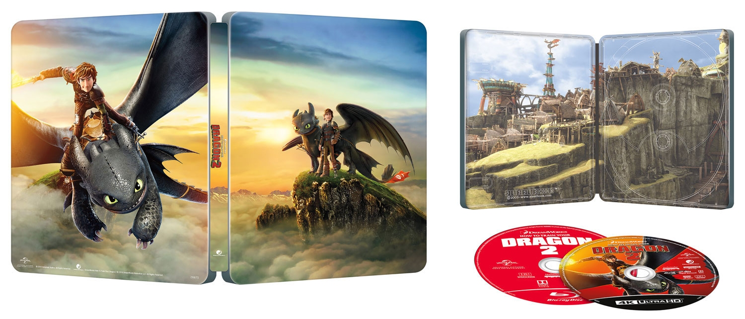 How to Train Your Dragon 2 UHD SteelBook opened