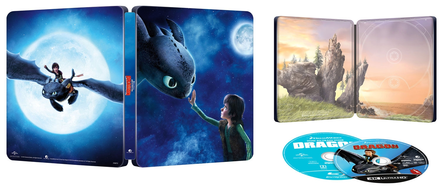 How to Train Your Dragon UHD SteelBook opened