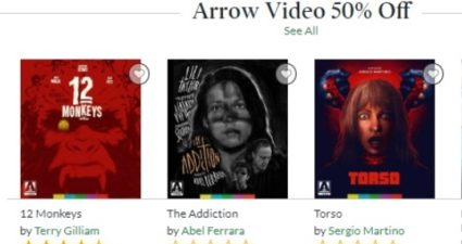 Barnes & Noble November 2018 Arrow Video Sale