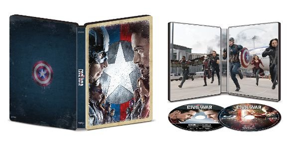 Captain America: Civil War - 4k UHD SteelBook