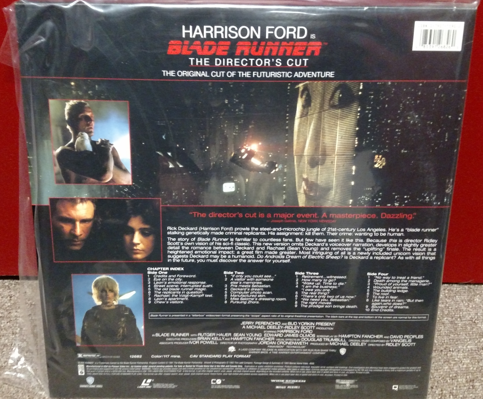 Blade Runner Laserdisc: Director's Cut CAV (back)