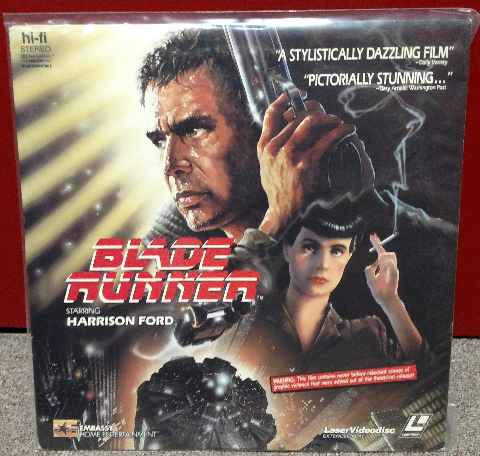 Blade Runner Laserdisc: Embassy 1987