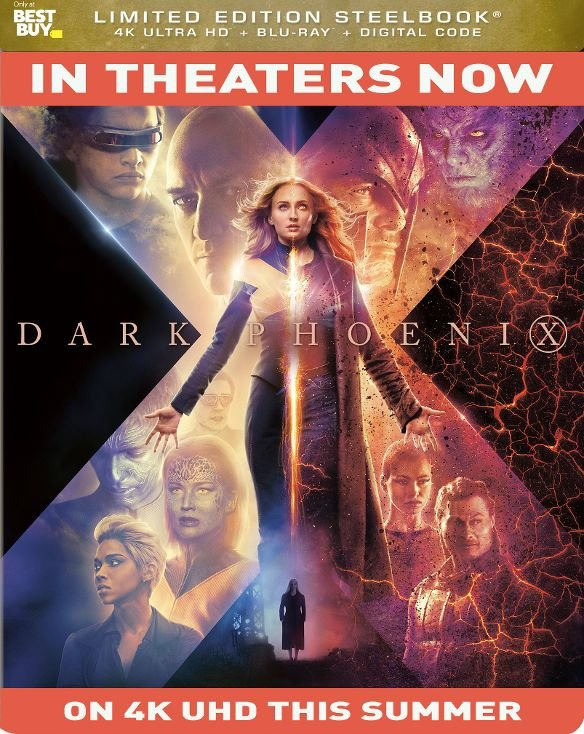 Dark Phoenix Ultra HD SteelBook temp art
