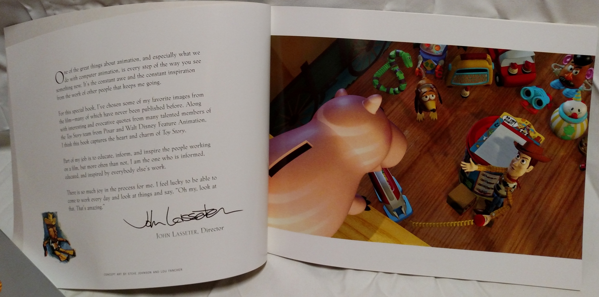 Toy Story Laserdisc - Art Book Page Sample