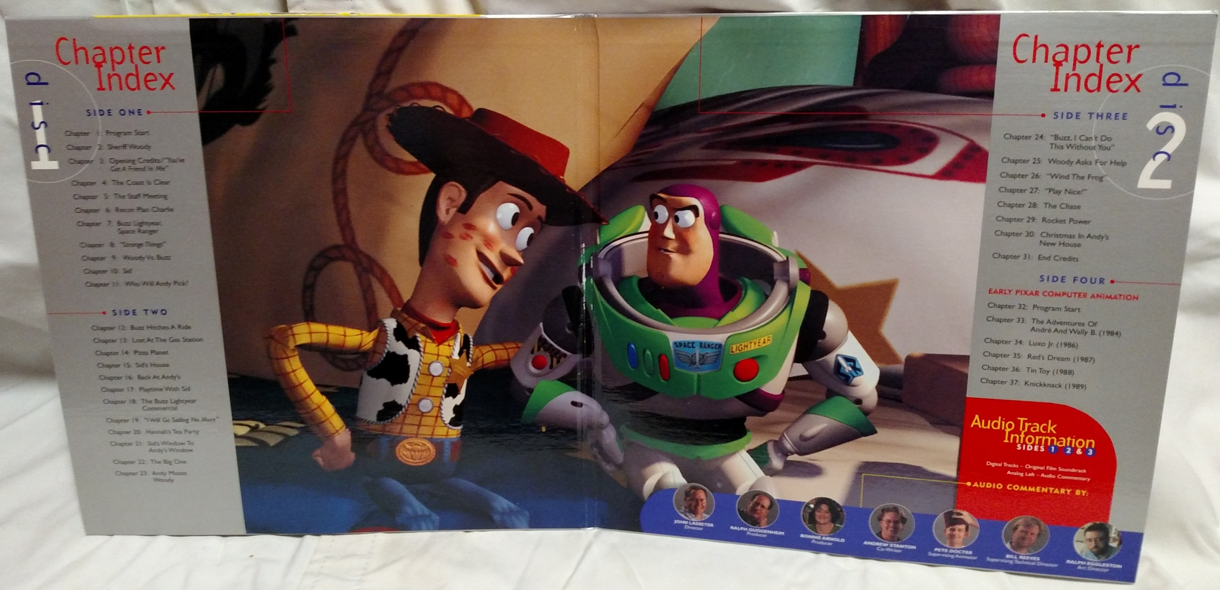 Toy Story Laserdisc - Movie Gatefold Interior