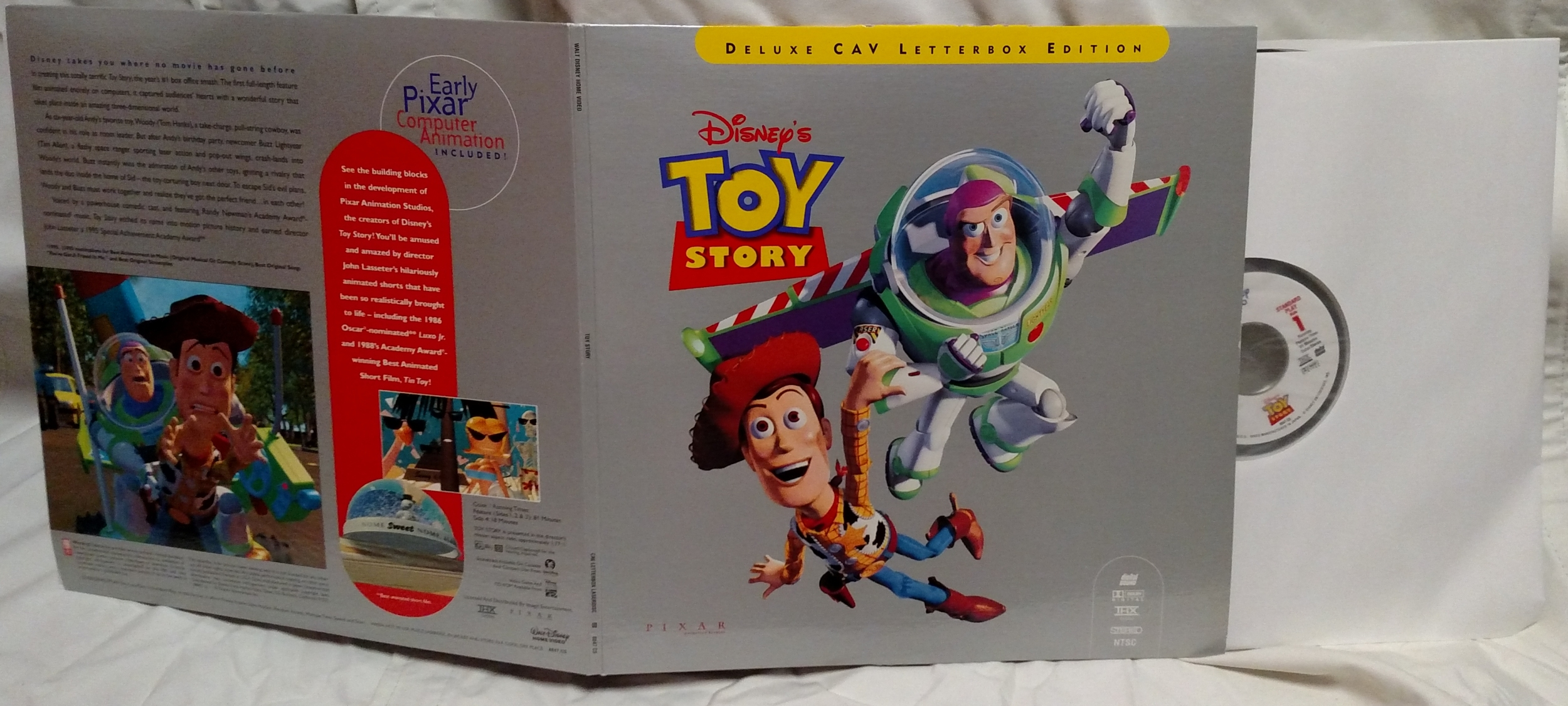 Toy Story Laserdisc - Movie Gatefold Front & Rear