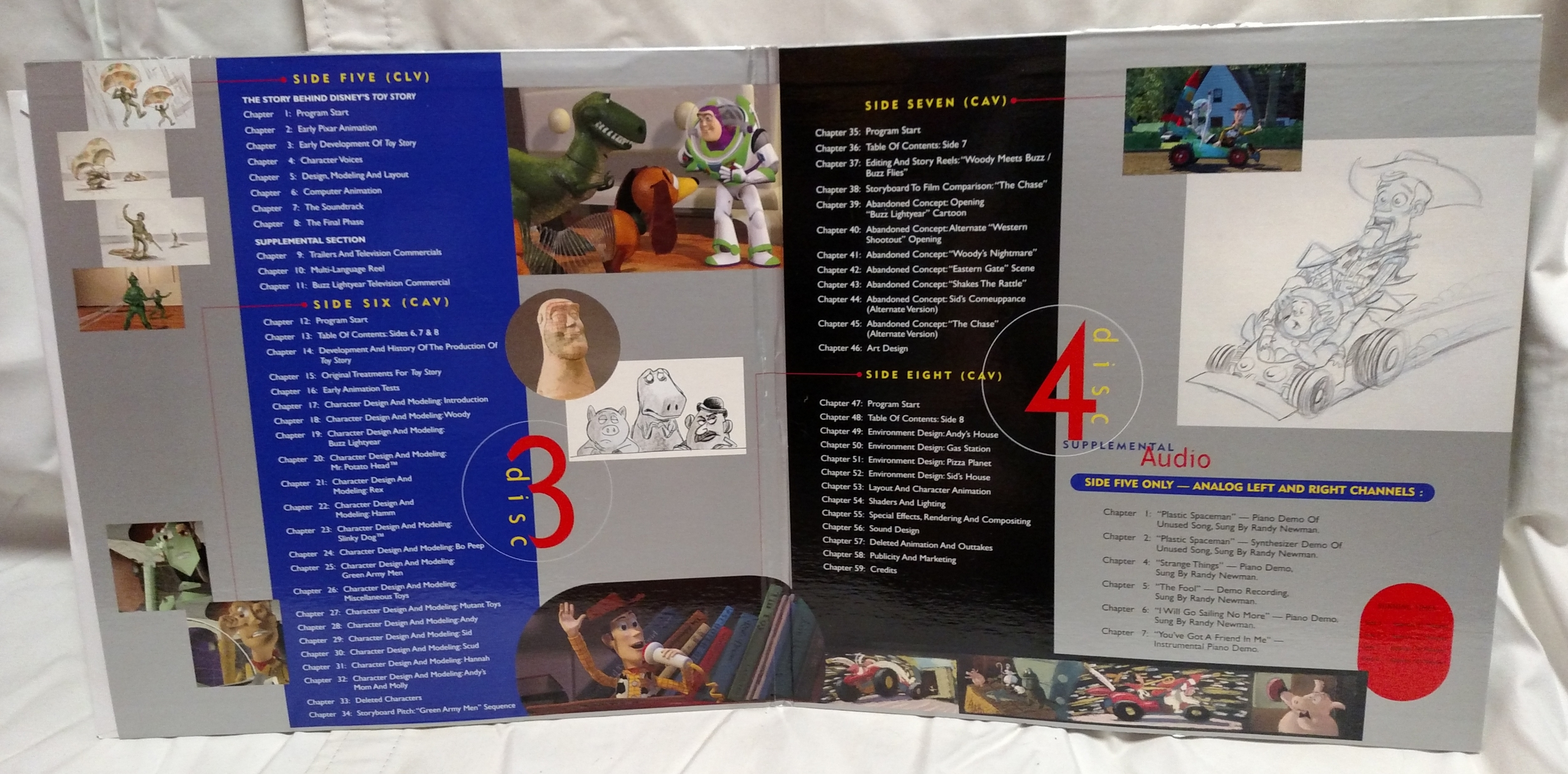 Toy Story Laserdisc - Supplement Discs Gatefold Interior