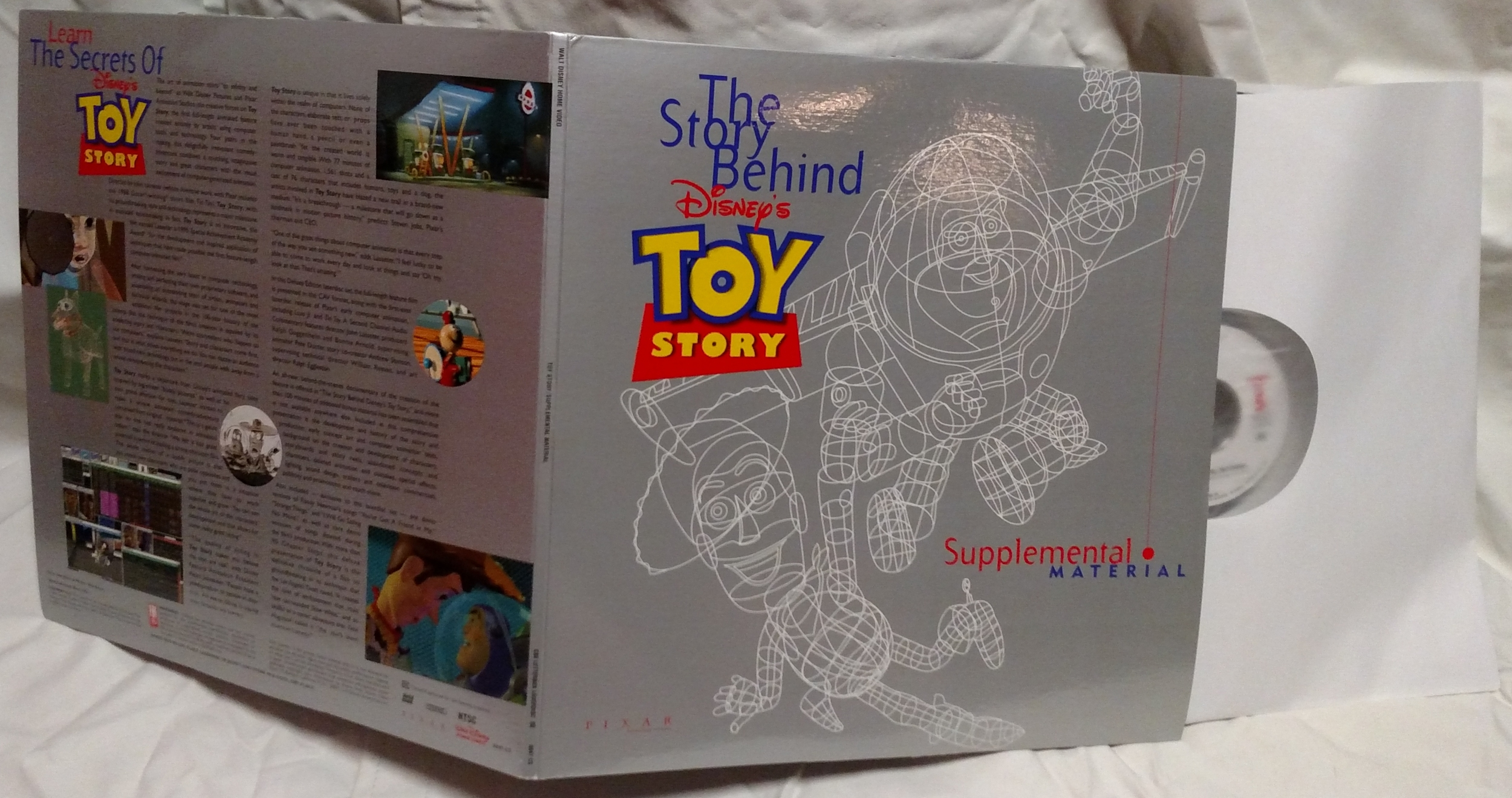 Toy Story Laserdisc - Supplement Discs