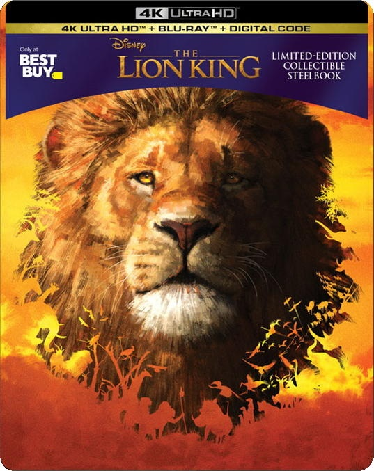 The Lion King (2019) 4k UHD SteelBook front cover