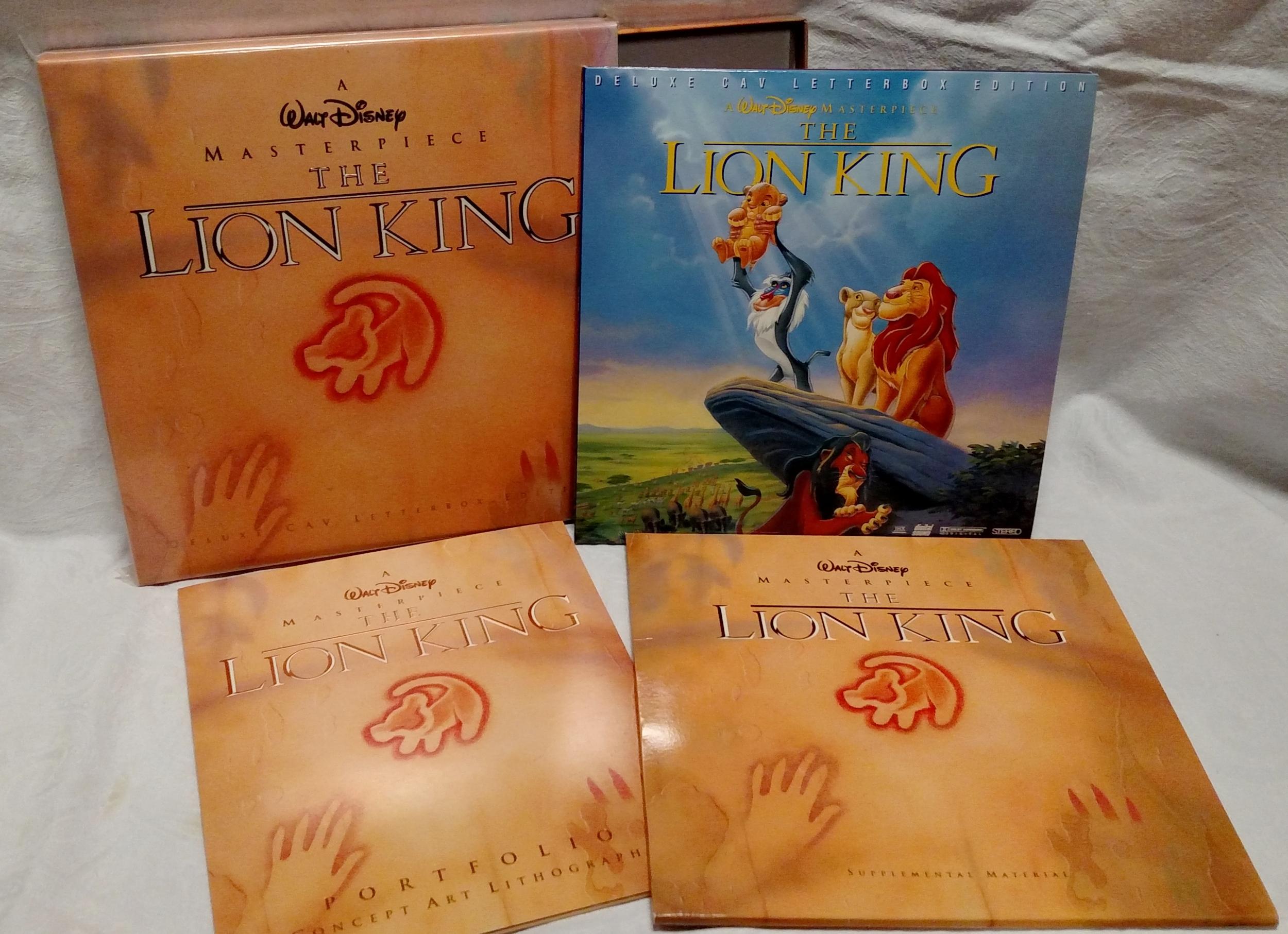 The Lion King Laserdisc - Box Contents