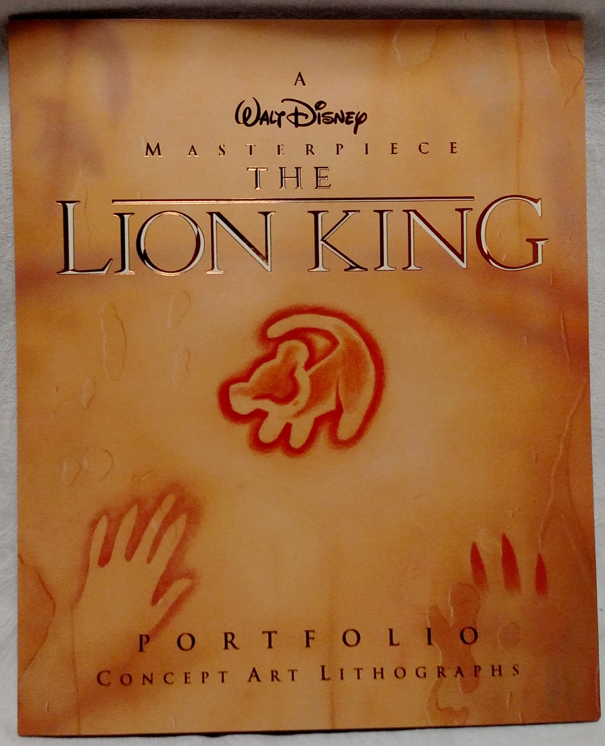 The Lion King Laserdisc - Lithograph Sleeve Front