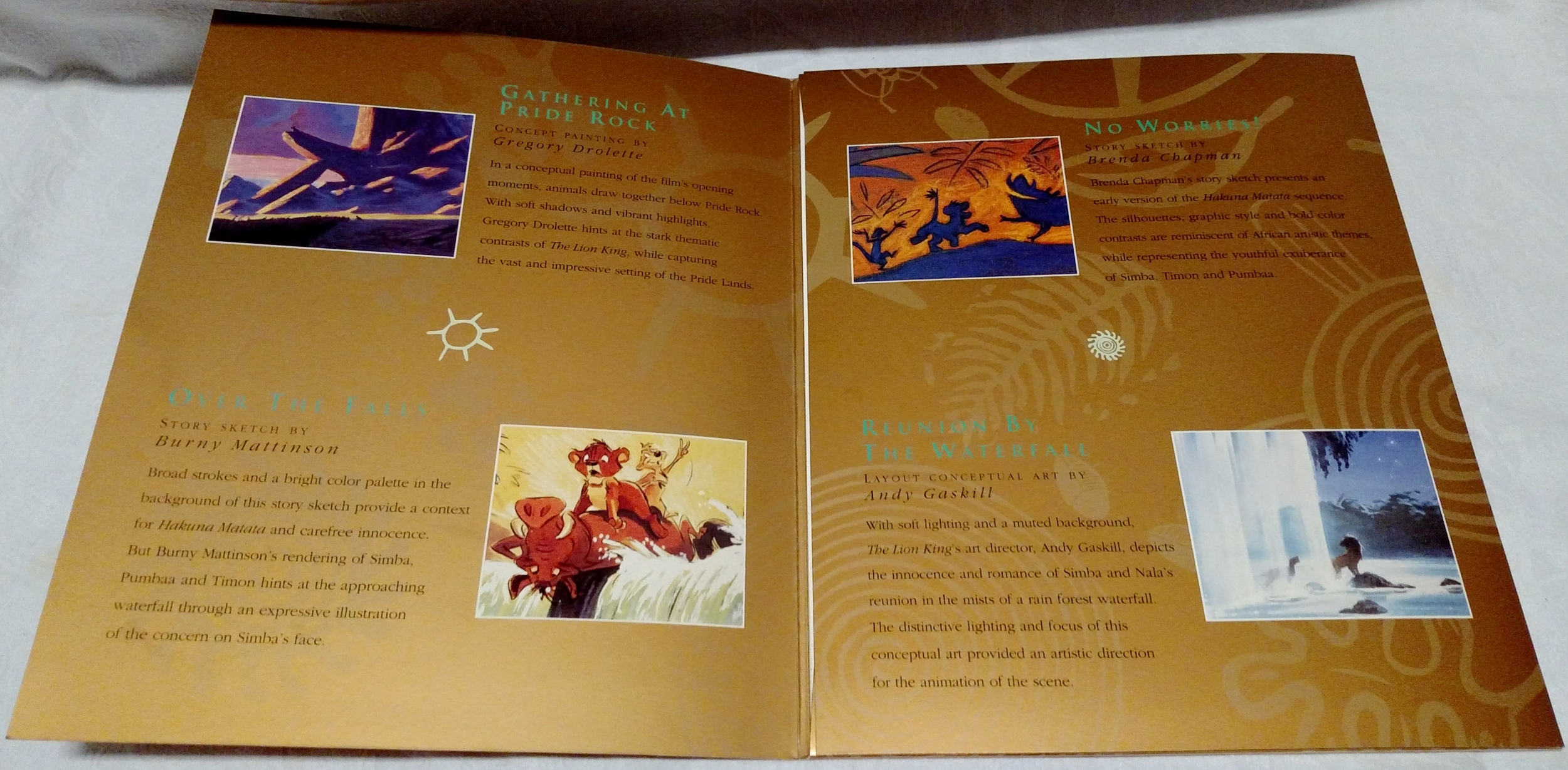 The Lion King Laserdisc - Lithograph Sleeve First Page