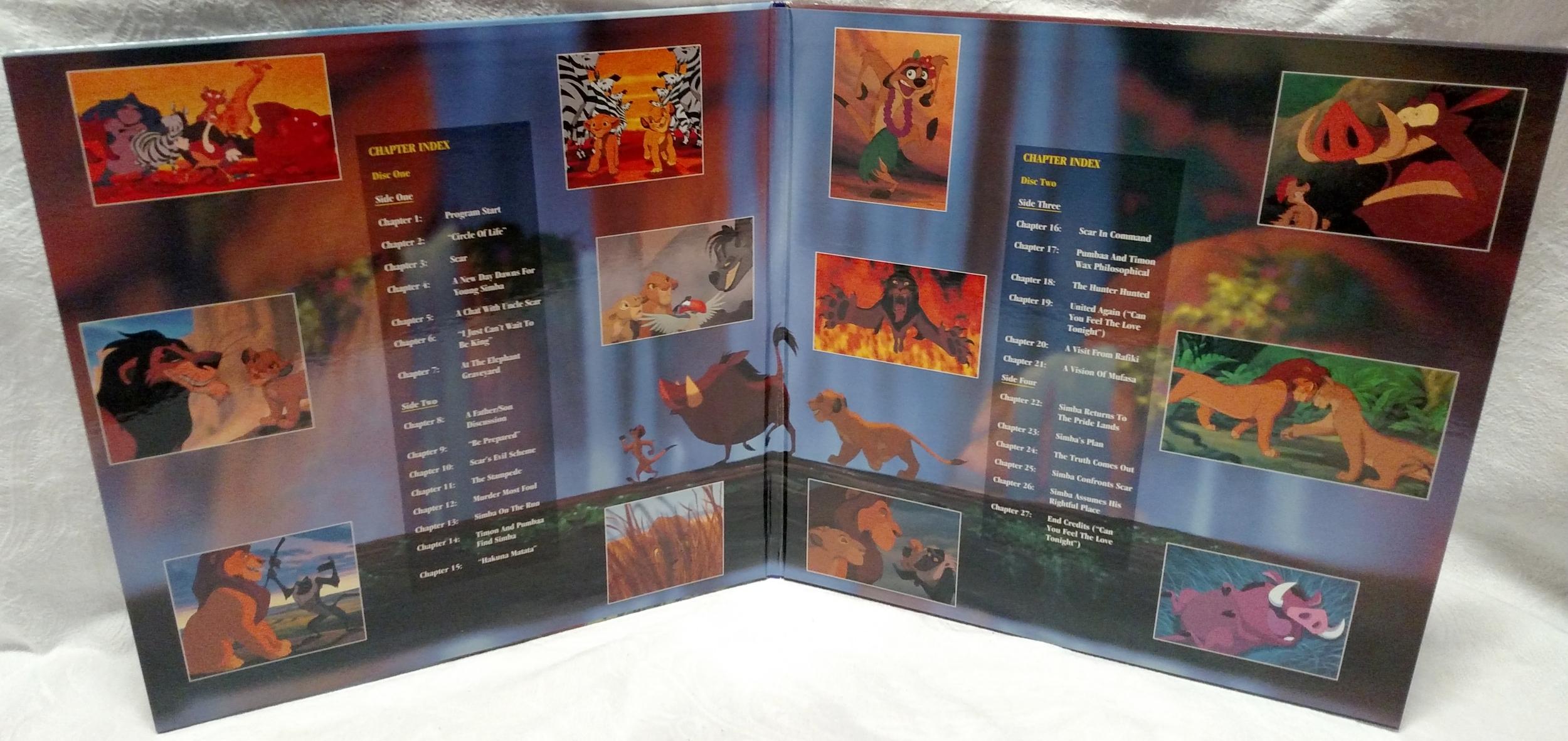 The Lion King Laserdisc - Movie Gatefold Interior