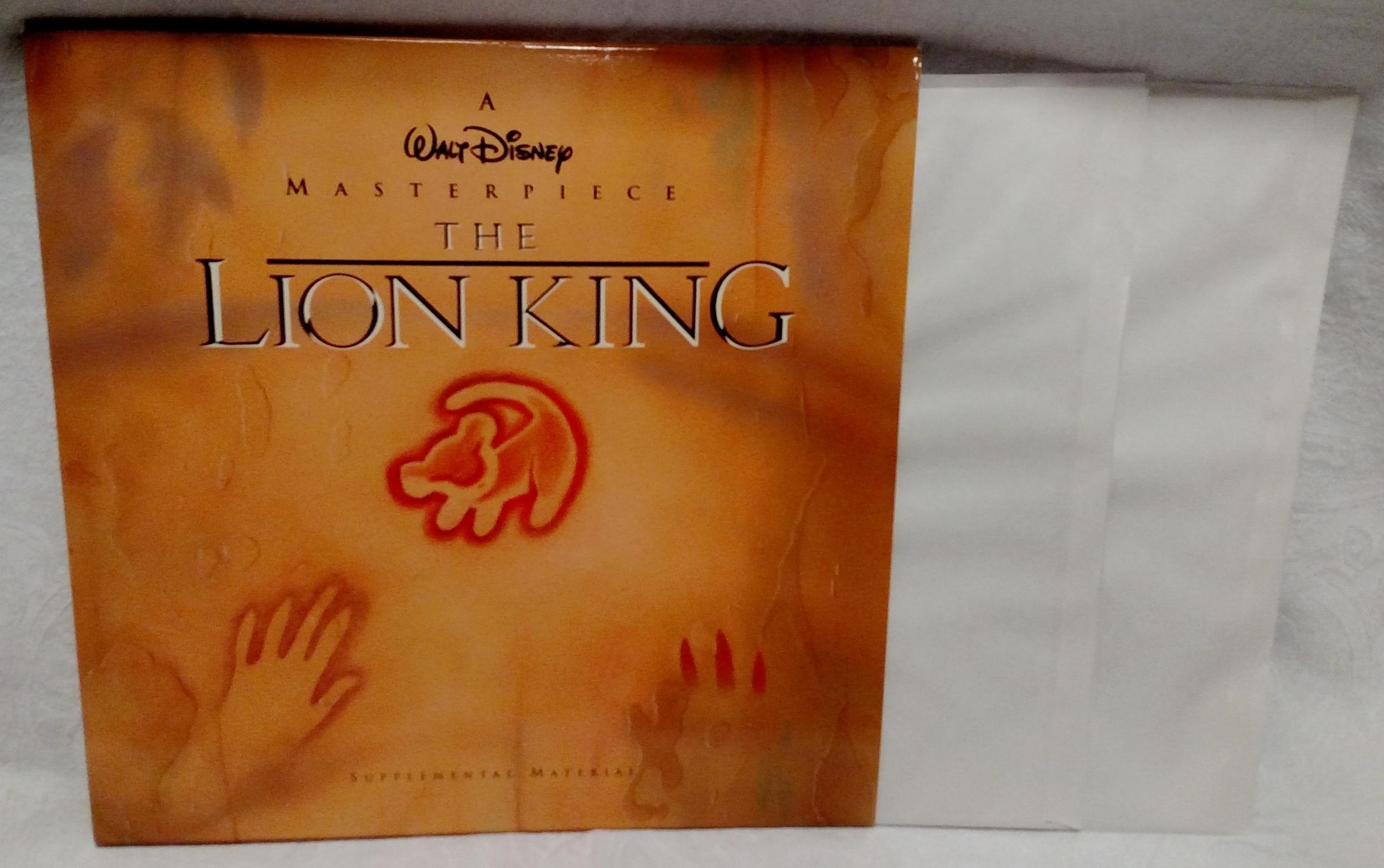 The Lion King Laserdisc - Supplements Front