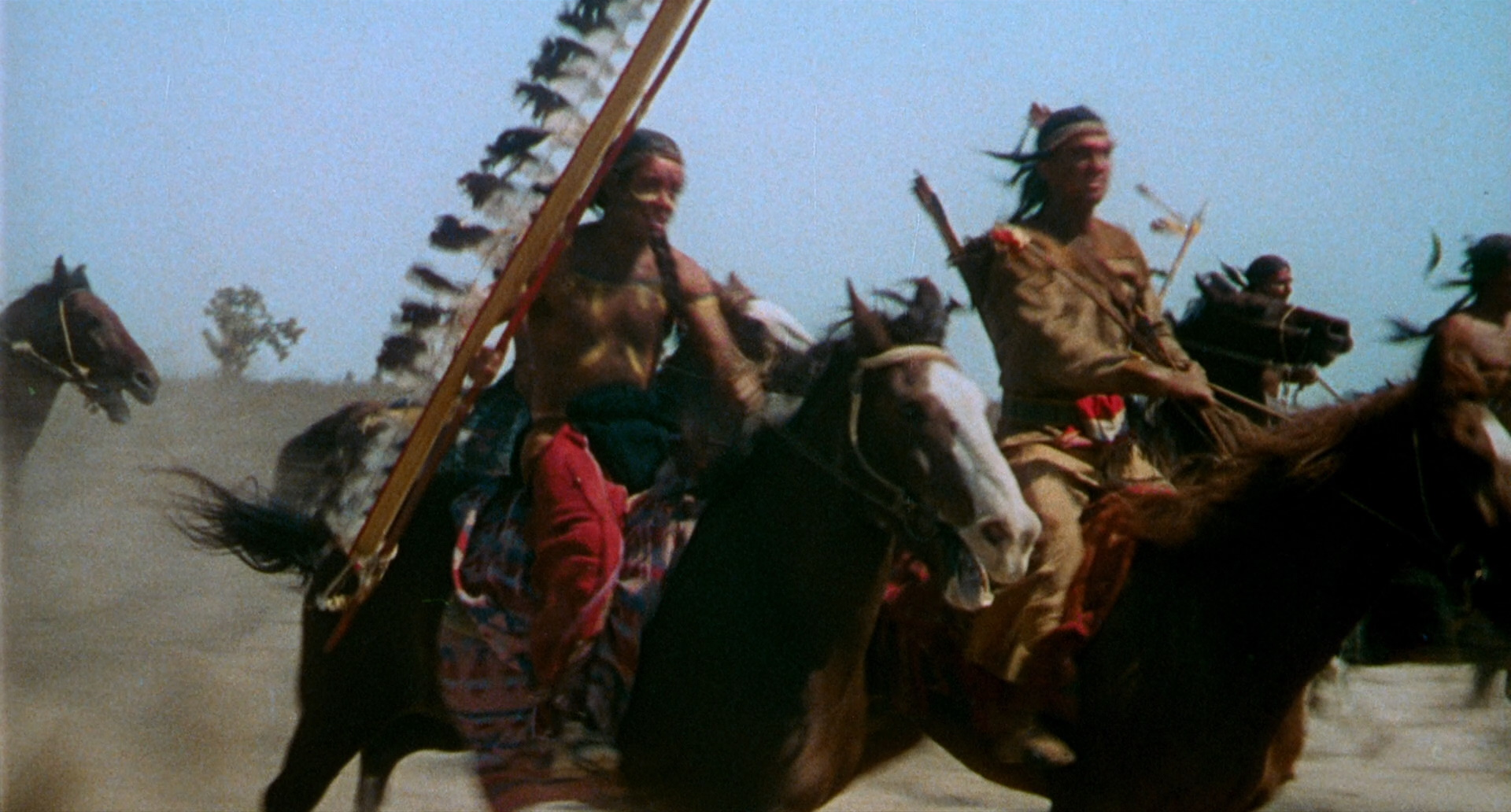 Wow! This tribal assault came out of nowhere. Like, from a completely different movie!