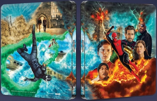 Spider-Man: Far from Home 4k Ultra HD SteelBook front & back
