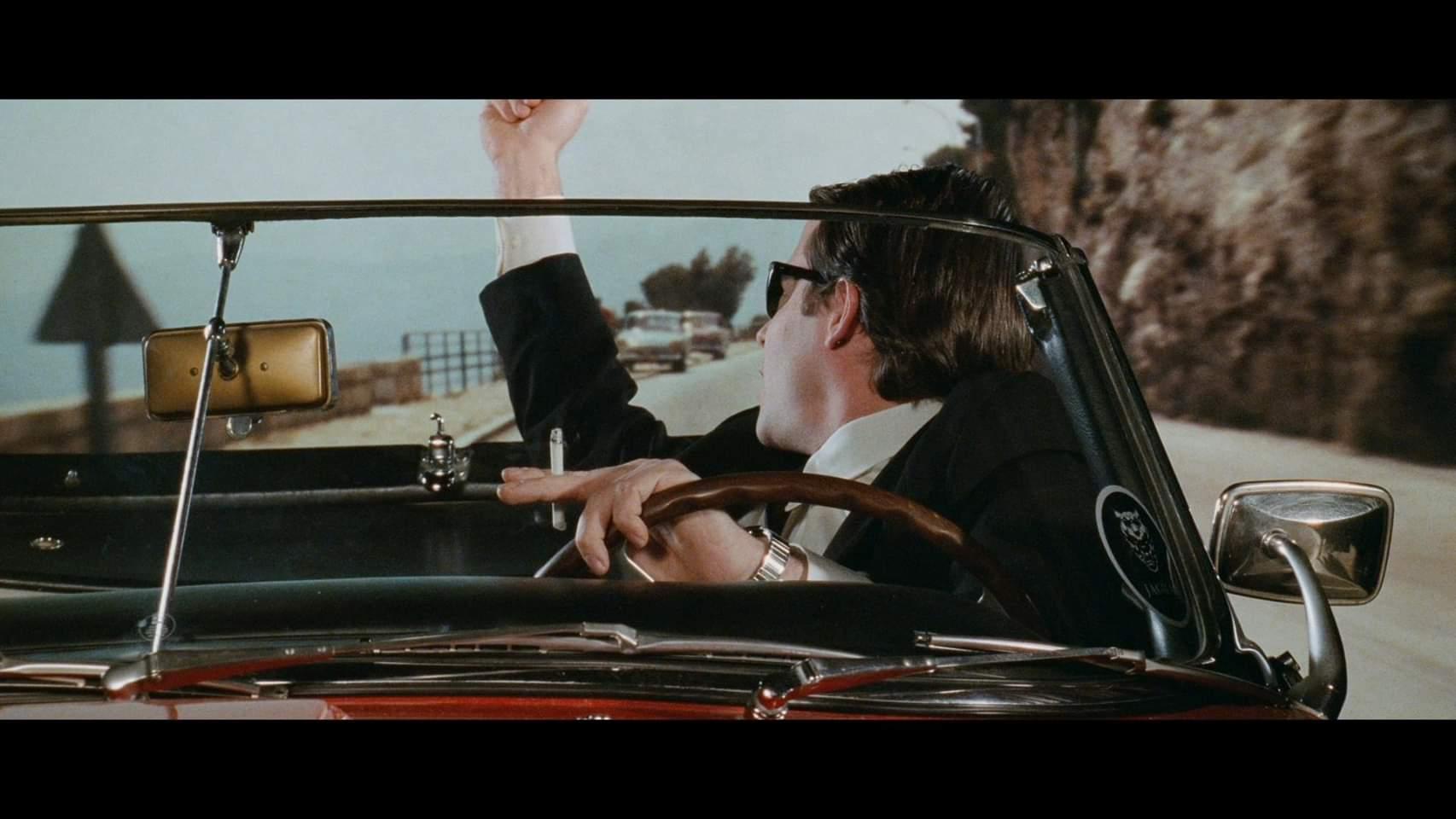 Matthew Broderick driving