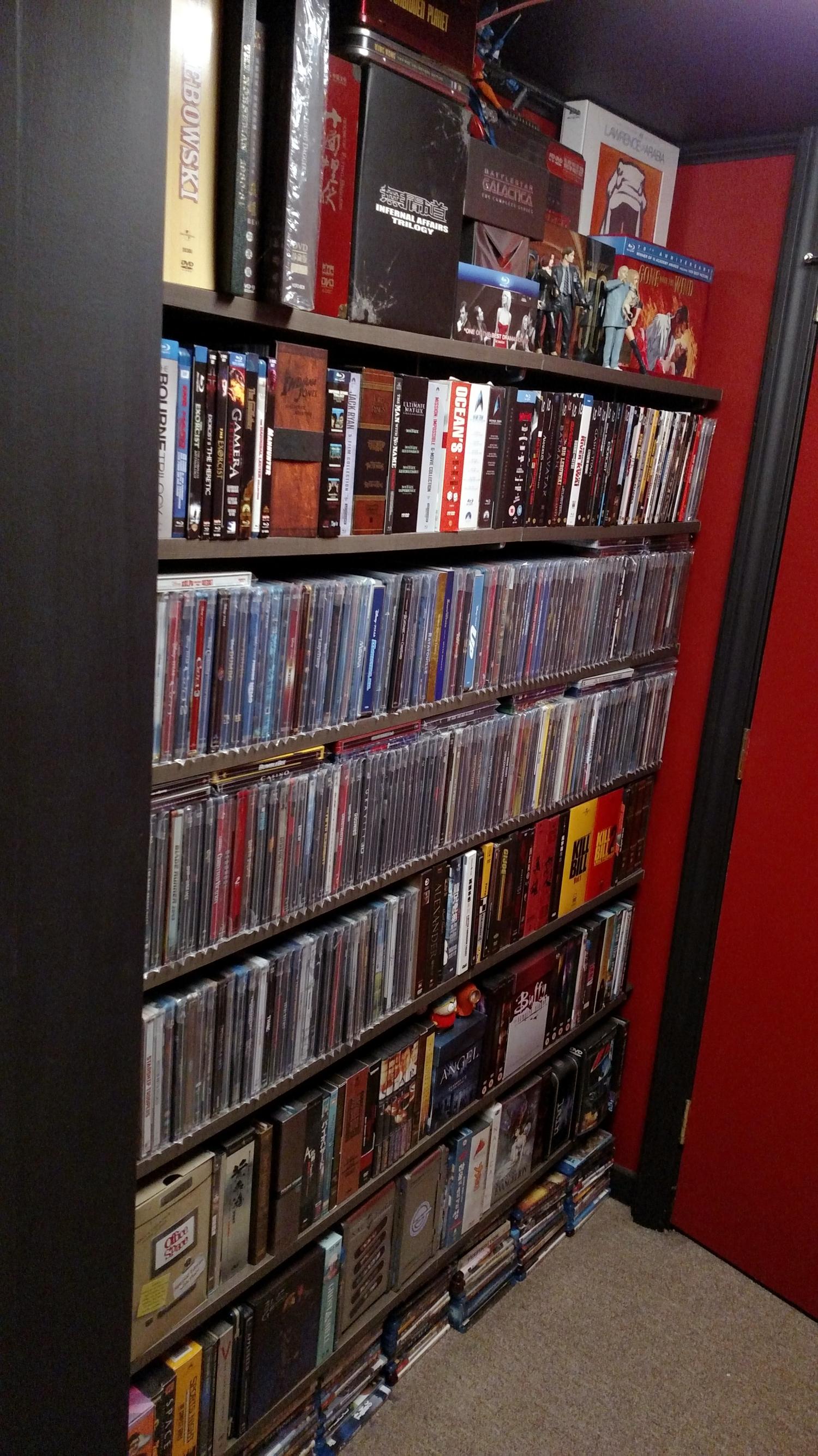 Blu-ray and DVD Shelf