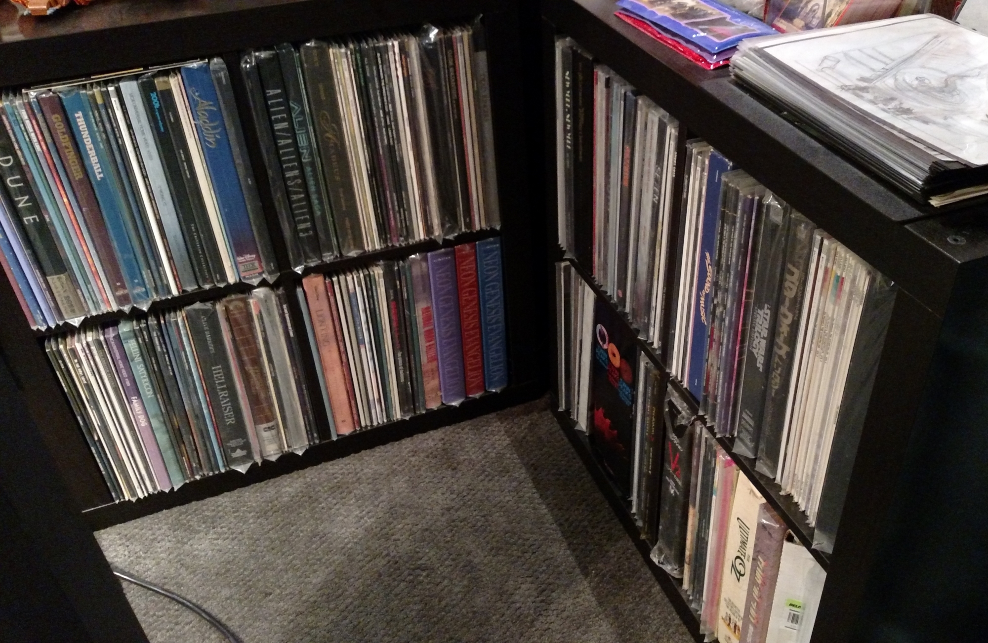 Laserdisc Shelves