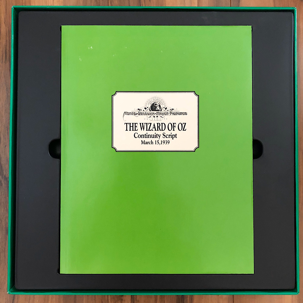 The Wizard of Oz - 1993 Ultimate Oz VHS Box Set Script Book