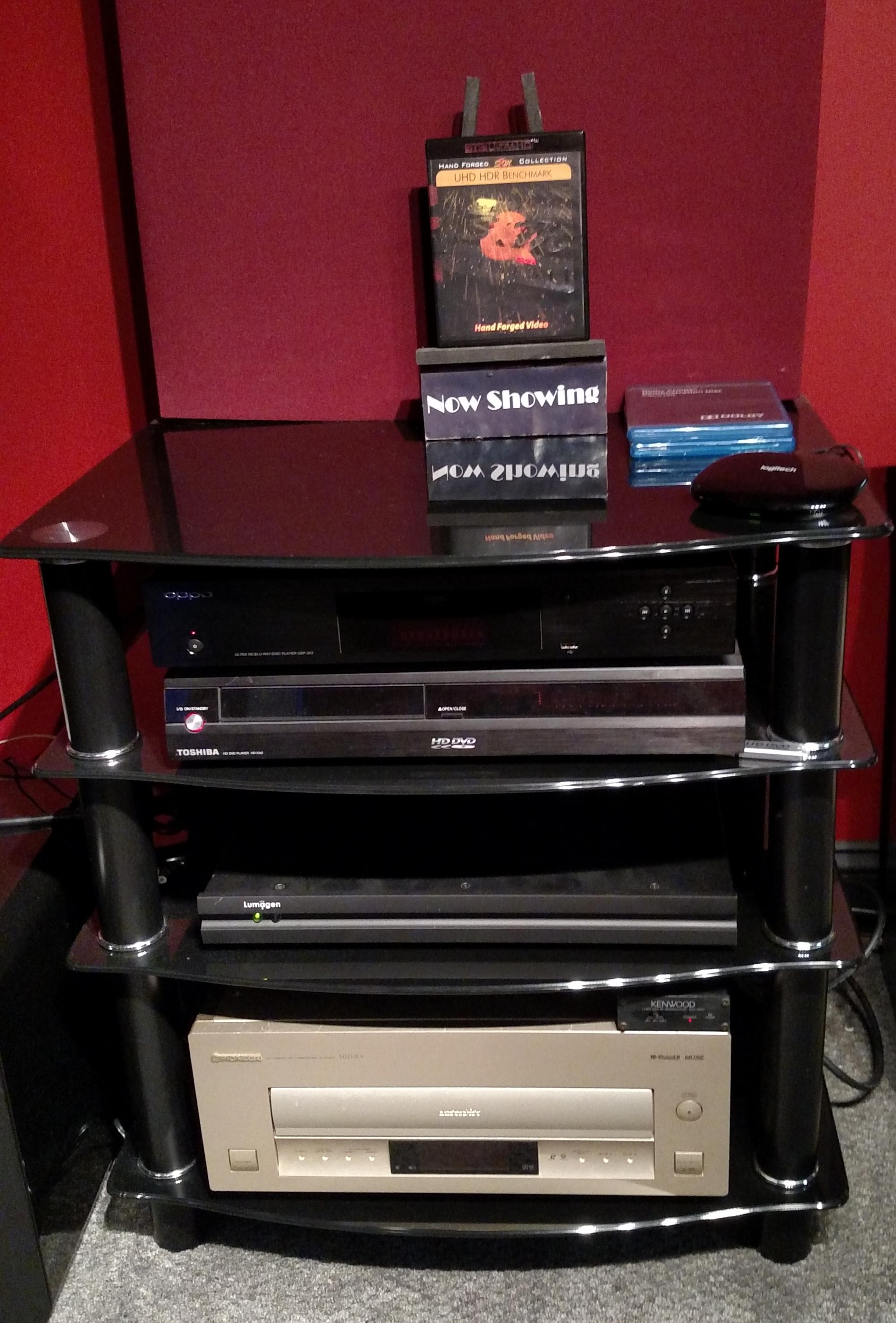Laserdisc Player on Equipment Rack
