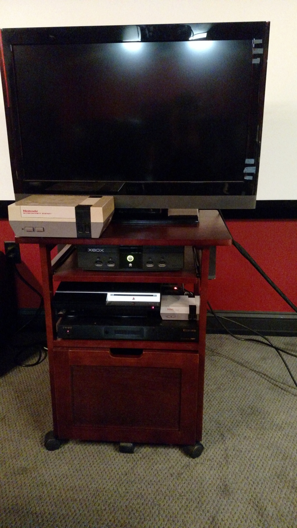 Gaming Cart with TV
