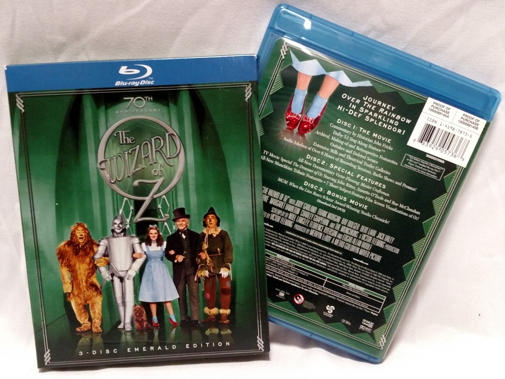 The Wizard of Oz - 2009 70th Anniversary 3-Disc Emerald Edition Blu-ray