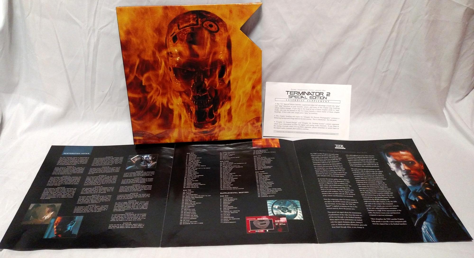 Terminator 2: Pioneer Special Edition Laserdisc contents