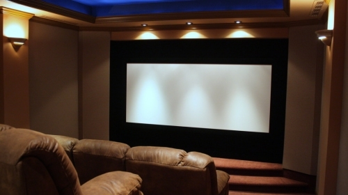 Feemster Home Theater. Image provided by Panamorph, Inc.