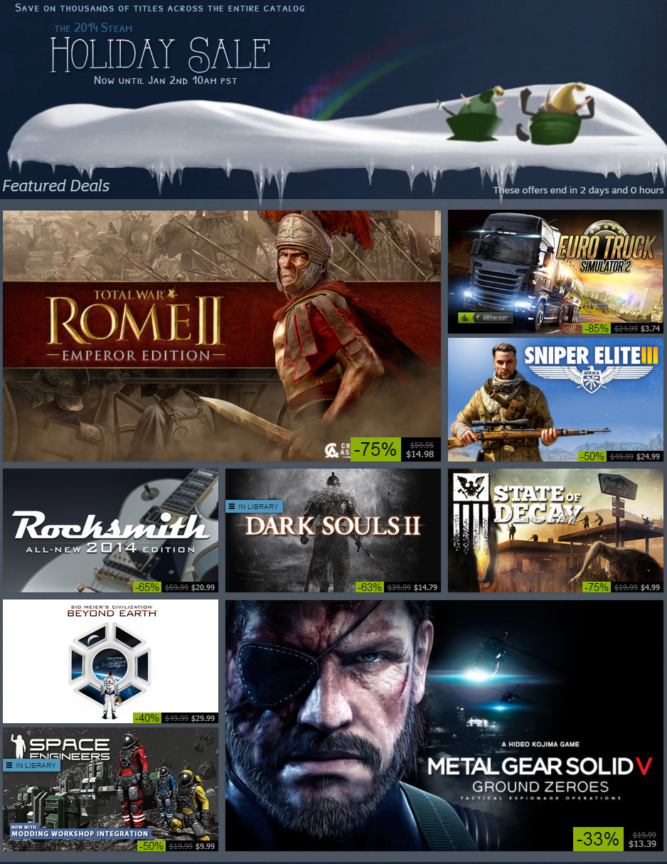 Wallet Panic: The 2015 Steam Holiday Sale Starts Now | High-Def Digest