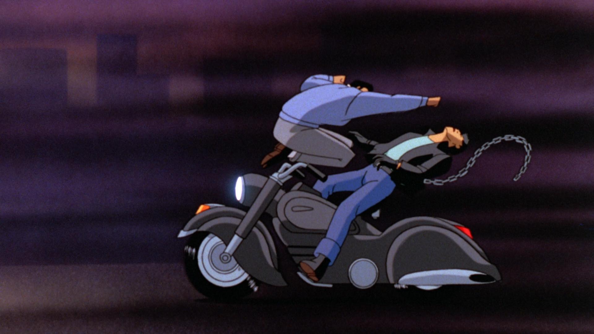 Batman: Mask of the Phantasm Blu-ray Review Biker Takedown Wide
