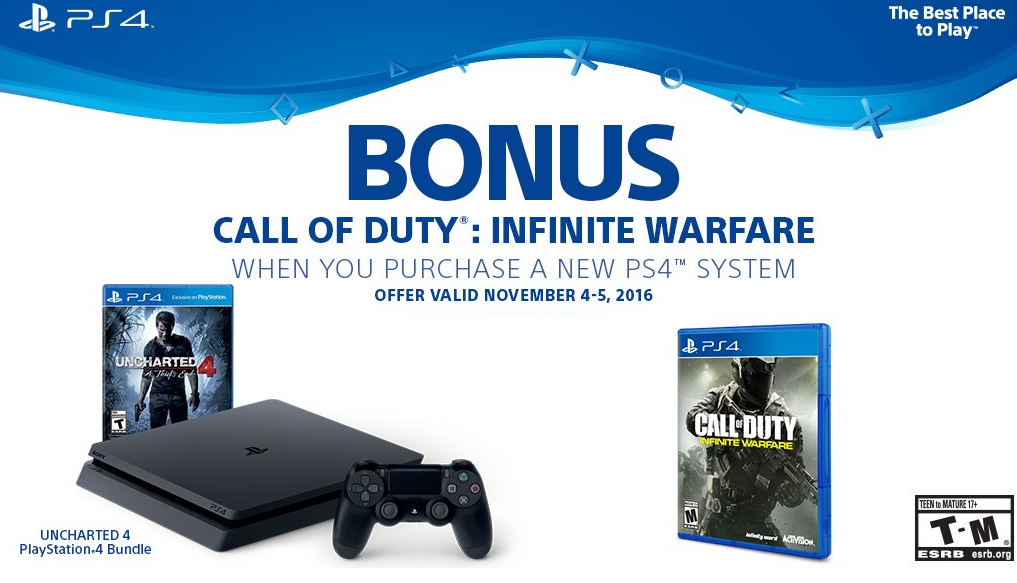 Call of Duty: Infinite Warfare Free PS4 Slim offer