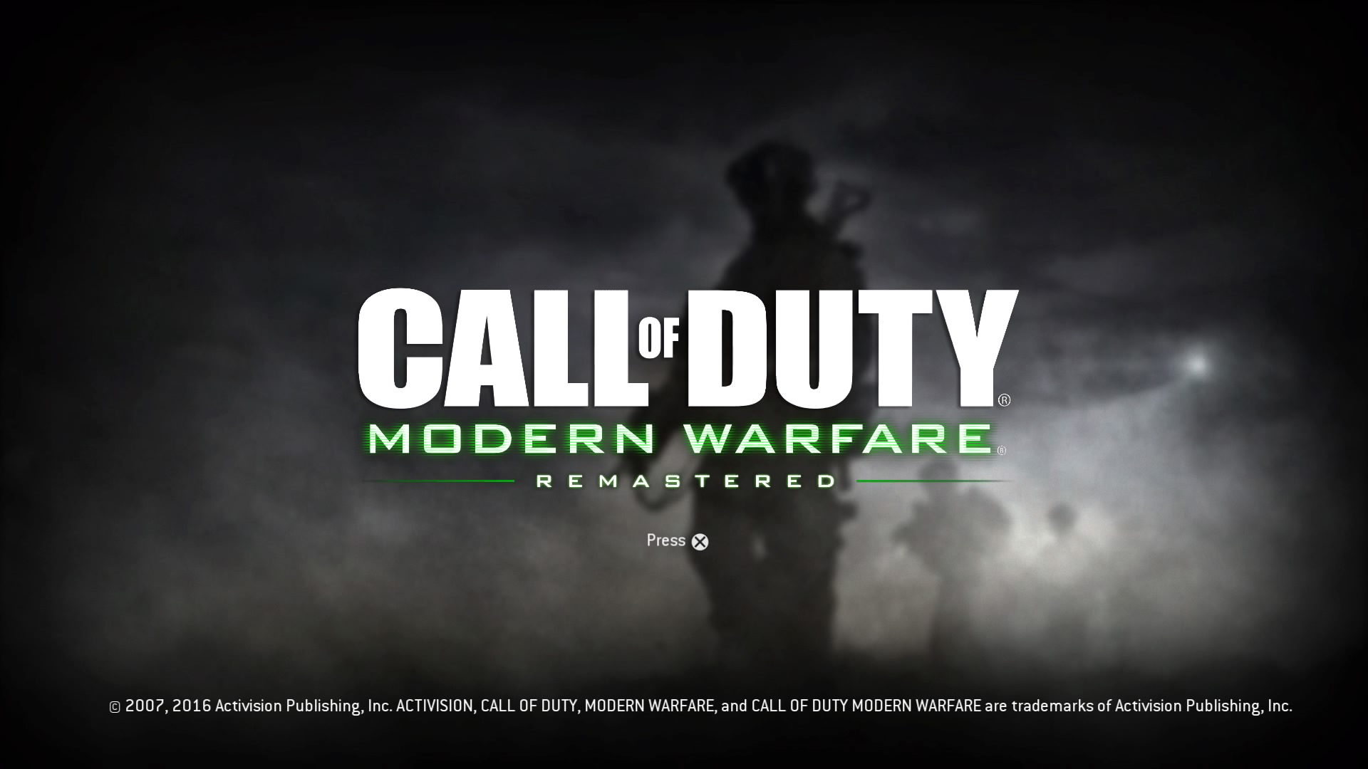 Call of Duty: Modern Warfare Remastered PS4 title