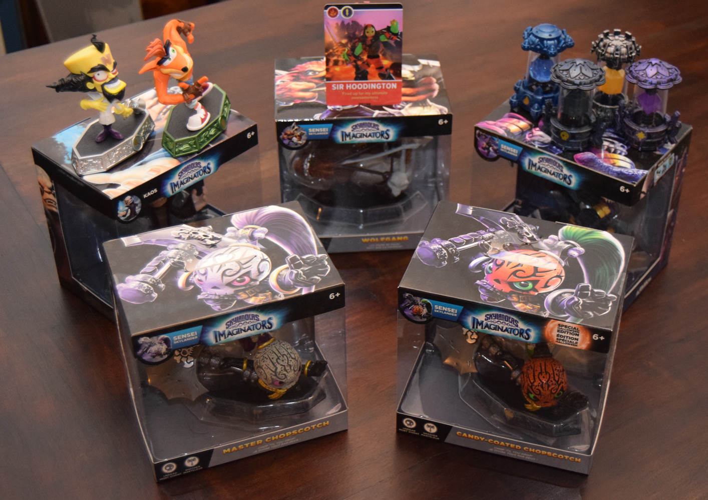 Candy-Coated Chopscotch with other Skylanders Imaginators figures