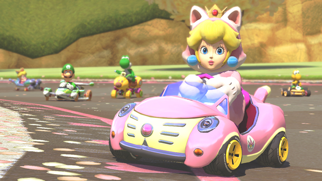 Cat Peach Mario Kart 8 DLC Add On Content Pack Wii U Nintendo