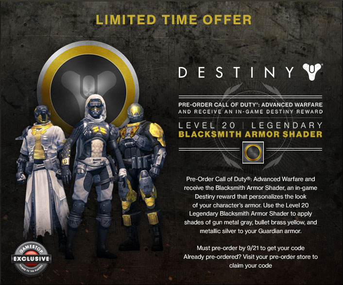 This destiny dlc is only available to those who pre order both destiny
