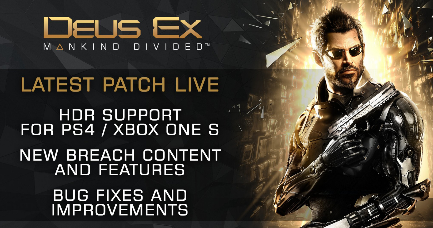 Deus Ex Mankind Divided HDR Patch PS4 Xbox One S