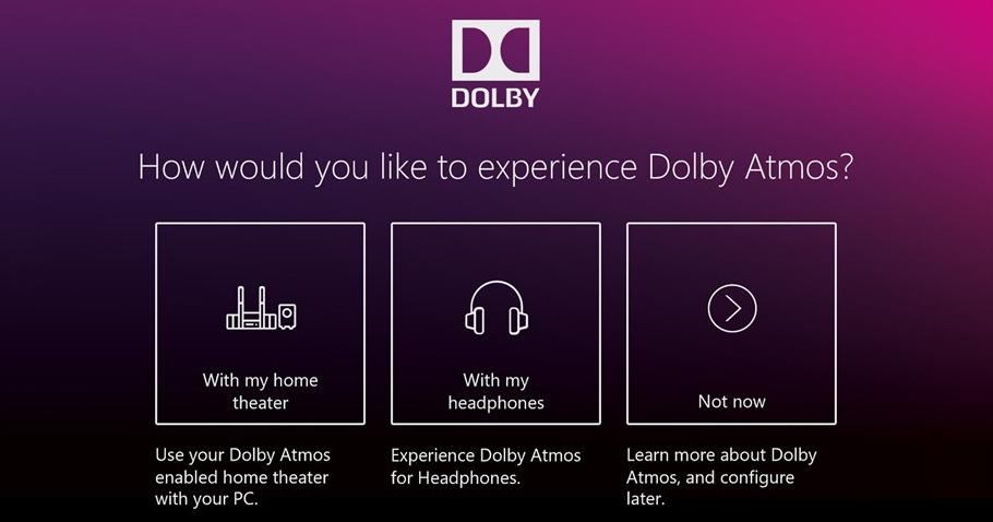 Dolby Access app Xbox One Windows 10