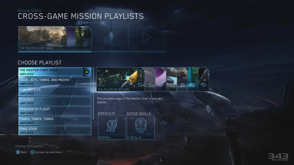 The 'Halo: The Master Chief Collection' playlist