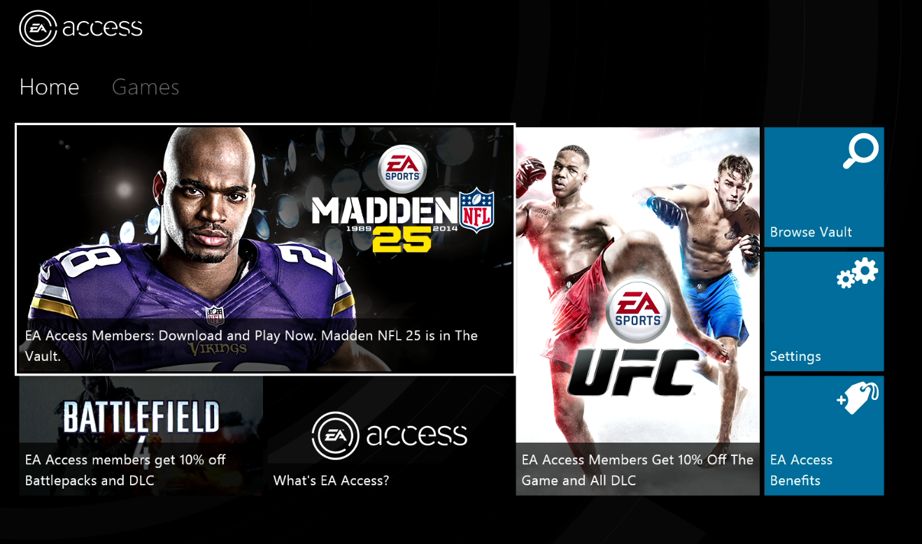 EA Access Xbox One Details Price Cost Vault Games