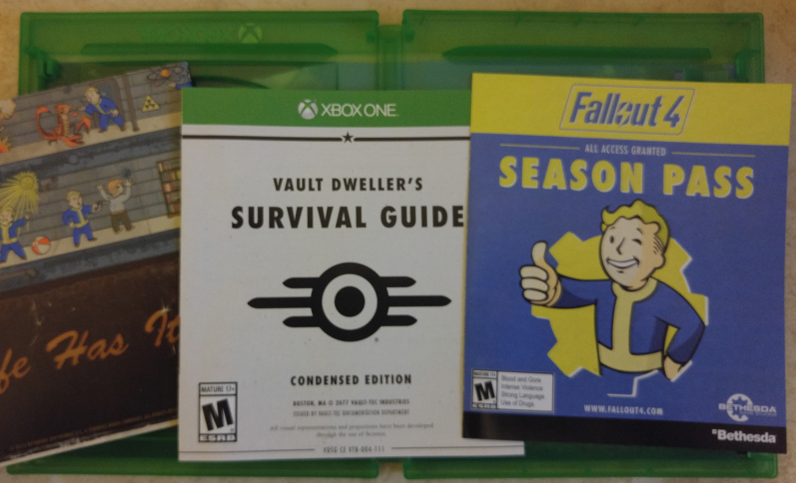Fallout 4 PS4 poster season pass guide