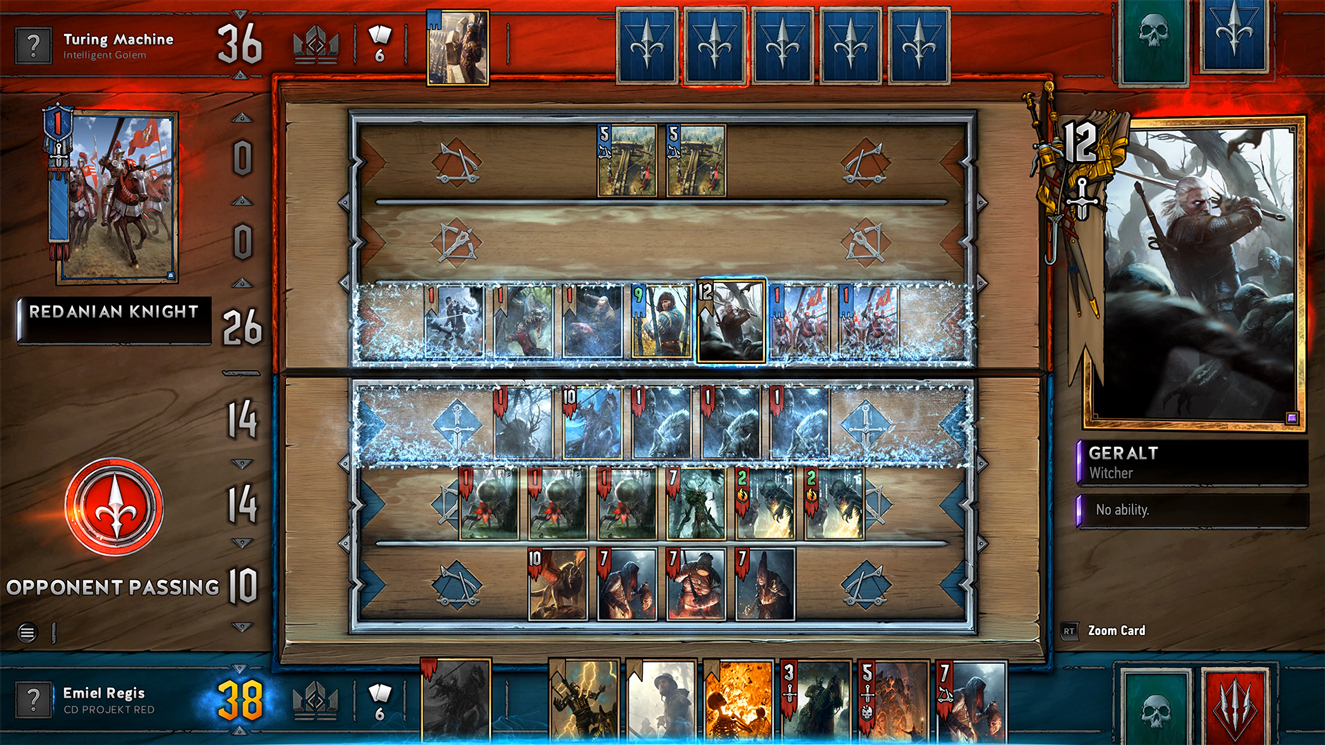 Gwent: The Witcher Card Game board