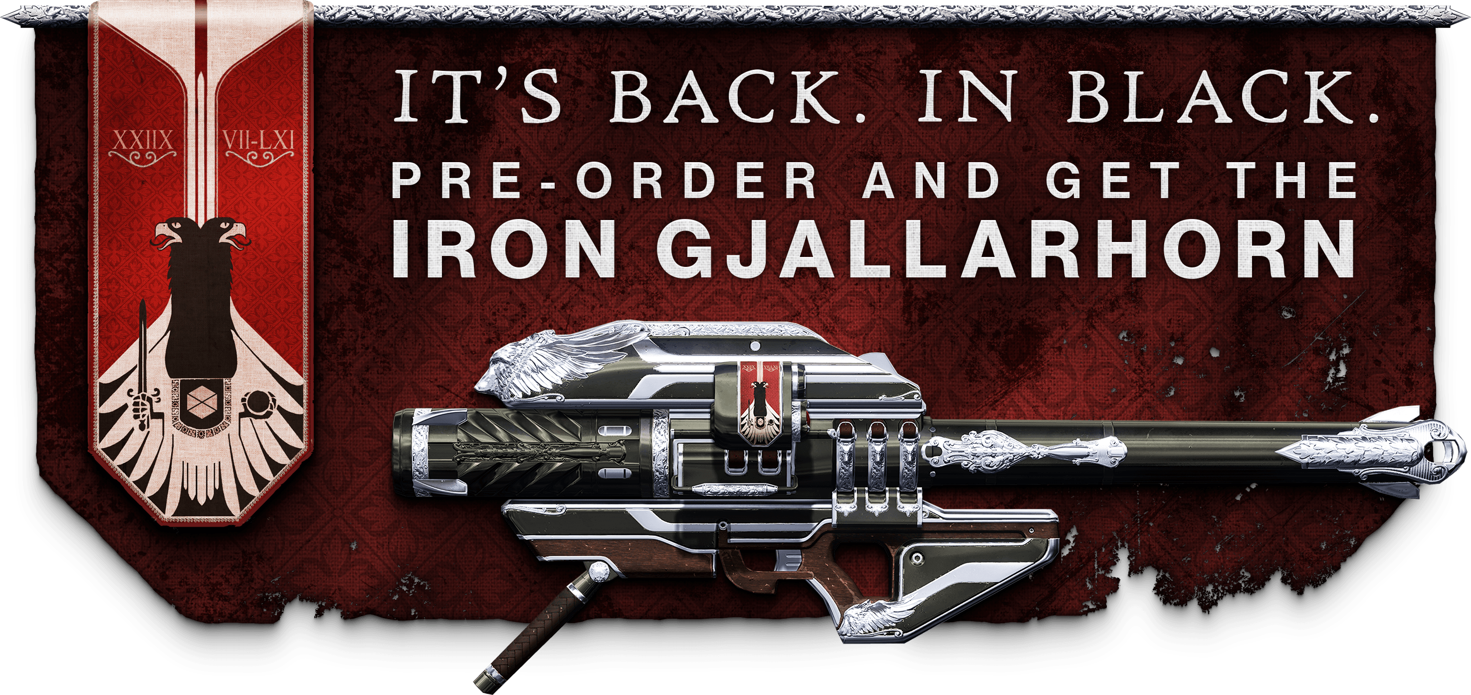 black and silver Iron Gjallarhorn Rocket Launcher