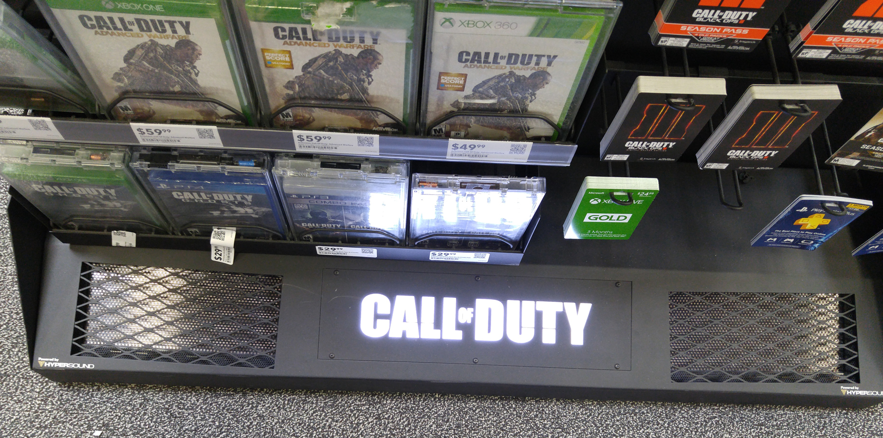 HyperSound Call of Duty Best Buy kiosk close
