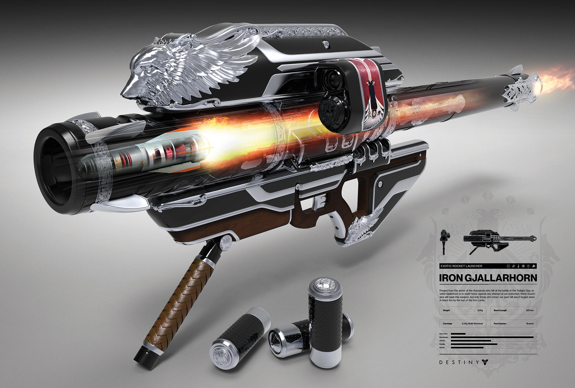 limited edition black and silver Iron Gjallarhorn